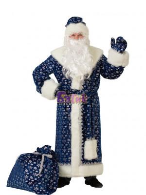 Костюм Деда Мороза плюш красный