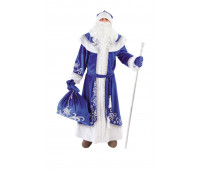 Взрослый костюм Дедушка Мороз (синий)