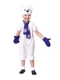 Детский костюм белый Медведь