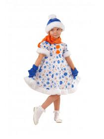 Детский костюм Снеговичка для девочки