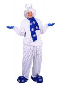 Взрослый костюм Снеговичок
