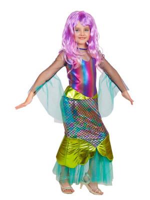 Детский костюм Русалочка Морская (с париком)