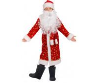 Детский костюм Дед Мороз красный