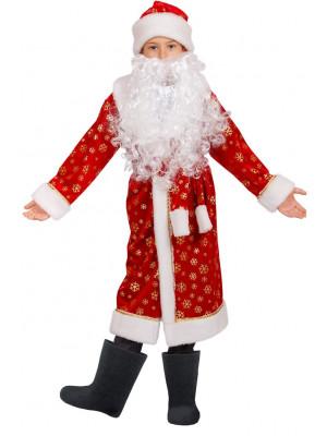 Детский костюм Дед Мороз 30(122), красный