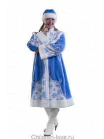 Костюм Снегурки взрослой (мех)